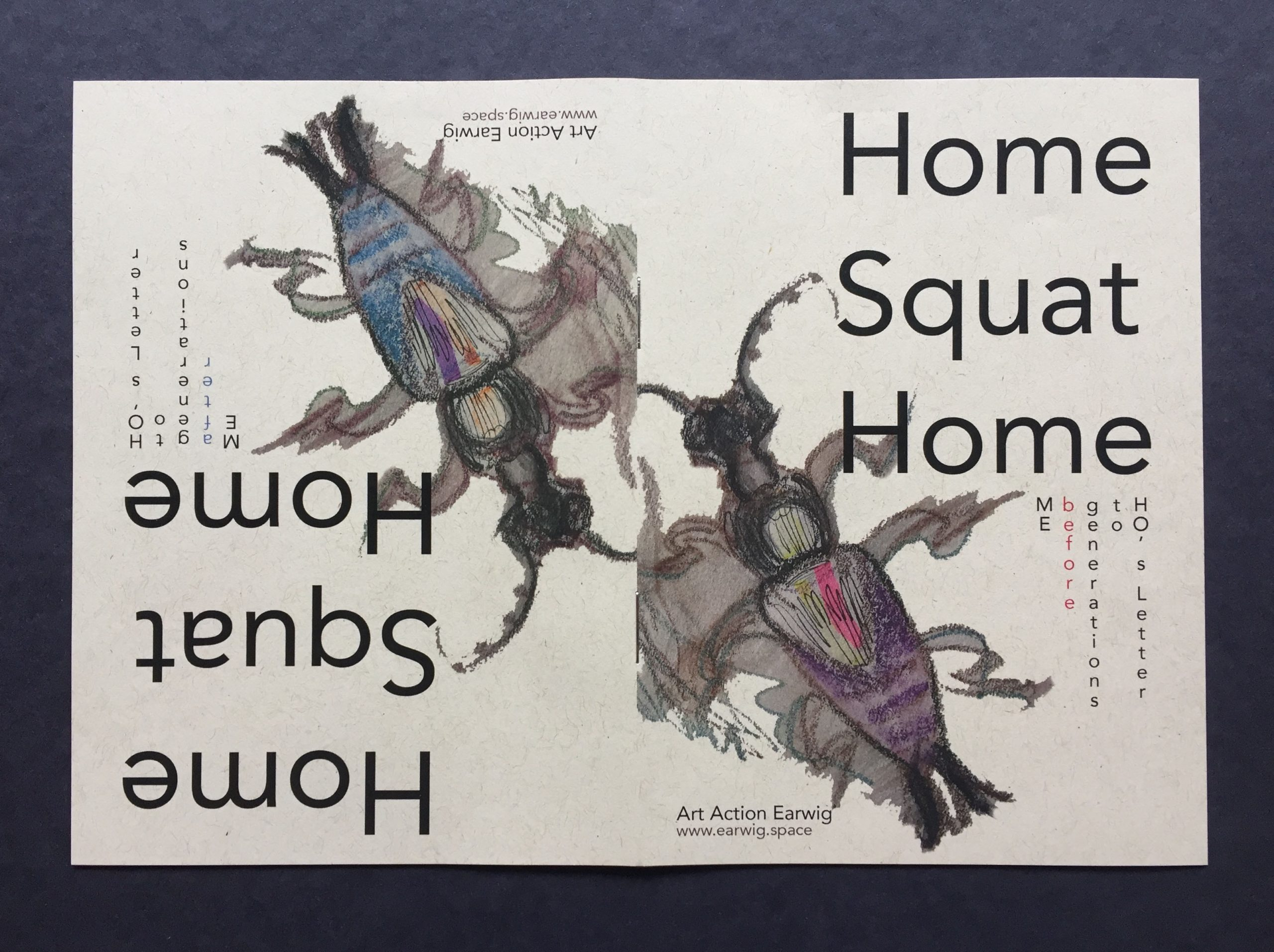 Art Action Earwig's Home Squat Home zine cover